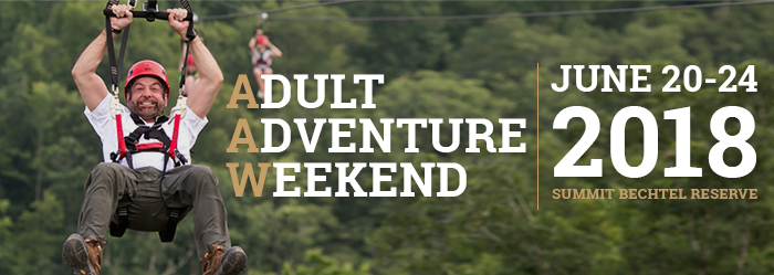 ADULT ADVENTURE WEEKEND - JUNE 20-24 2018