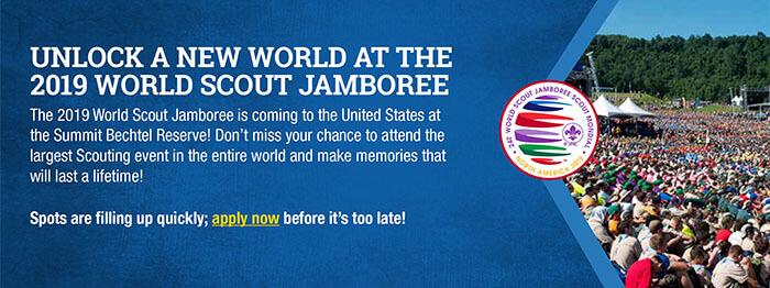 UNLOCK A NEW WORLD AT THE 2019 WORLD SCOUT JAMBOREE