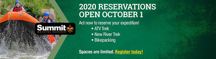 2020 RESERVATIONS OPEN OCTOBER 1